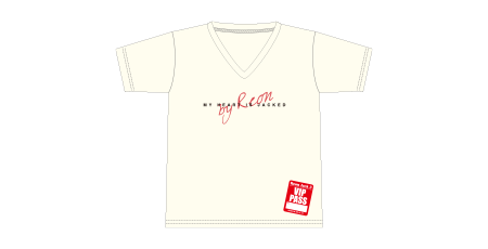 Tシャツ/オフホワイト(S/M/L)